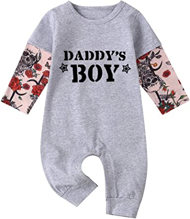 Body Bebe Manga Larga Frases DaddyS Boy Ropa Bebe Niño ...