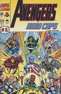 Avengers Hero Caps Pogs