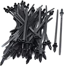 Sydien Nylon Push Mount Car Cable Zip Tie Self-locking 6.9