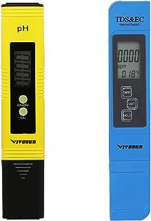 VIVOSUN pH & TDS Meter Combo, 0.05ph High Accuracy Pen Type pH Meter & +/- 2% Readout Accuracy 3-in-1 TDS EC Temperature Meter