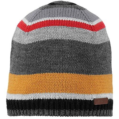 Barts Beanie strikkkmuts wintermuts grijze strepen fijne strik 3538019 - Stitch