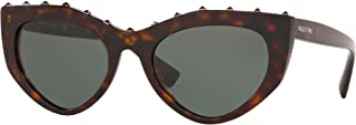 Valentino VA4060 500271 Havana VA4060 Cats Eyes Sunglasses Lens Category 3 Size