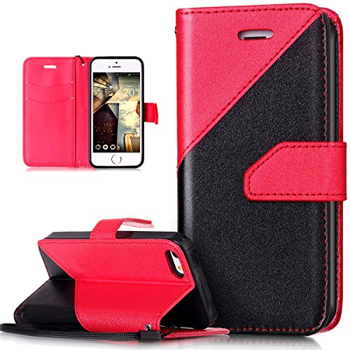iPhone 5S Case, iPhone 5 Case, iPhone SE Case, iPhone 5S/5 & iPhone SE Case, ikas Portemonneehouder Rood