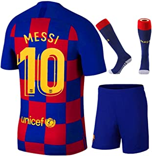 NIDNIDAY New 2019/2020 Barcelona Home 10 Messi Kids/Youth Socce Jersey