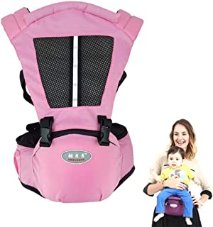 Baby Carrier,Hamkaw 4-in-1 Infant Carrier with Hip Seat & Reflective Strip Multifunction Breathable All Seasons Baby Carrier Sling Front & Back for 3-36 Months Newborn Toddlers