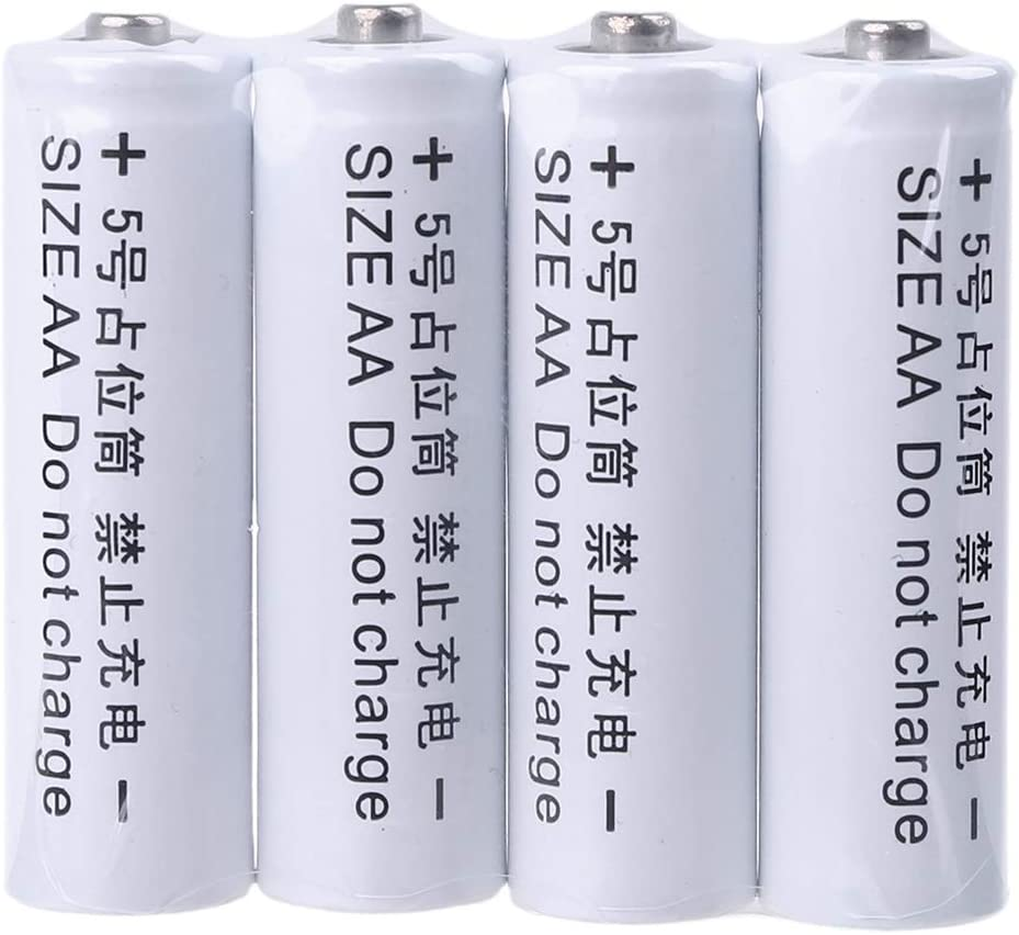 4Pcs No Power 14500 LR6 AA Dummy Fake Battery Placeholder Cylinder Conductor