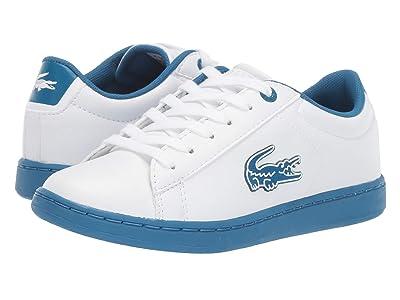 Lacoste Kids Carnaby Evo 319 1 (Little Kid) (White/Blue) Kid