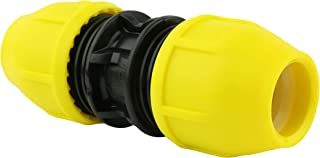 Home-Flex Underground Yellow Poly Gas Pipe Coupler 1/2