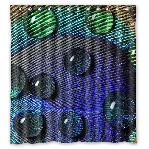 Doubee Personalisiert Peacock Wasserdichtes Duschvorhänge Shower Curtain 66
