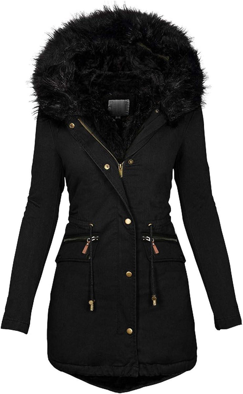 SoneBot Womens Winter Max 56% OFF SALENEW very popular! Cotton Overcoat Hooded Warm Faux Parka Fur
