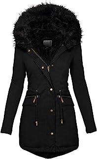کتهای زمستانی پارکا ، پالتو ضخیم با خط کت ، مخملی ، ضد آب و کت ، لباس های بیرونی گرم با جیب