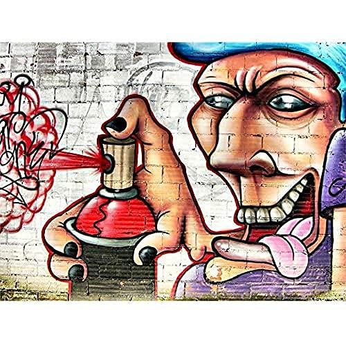 FINE ART PRINTS Graffiti-Tagger-Spray Can Wand-Kunstdruck