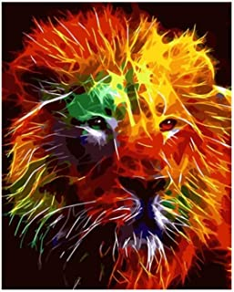 Jiahuade Digital Painting King Animals Tiger Lion Leopard Painting No Frame Pictures Painting by Numbers DIY Canvas Oil Painting Home Decor Living