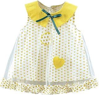 88e430760dd 💙Fille Bebe Robe de Mode Tenues ABsoar Enfant sans Manches imprimé l amour  a