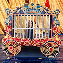 Vintage Circus Train Car Cutout Standup Photo Booth Prop Background Backdrop Party Decoration Decor Scene Setter Cardboard Cutout