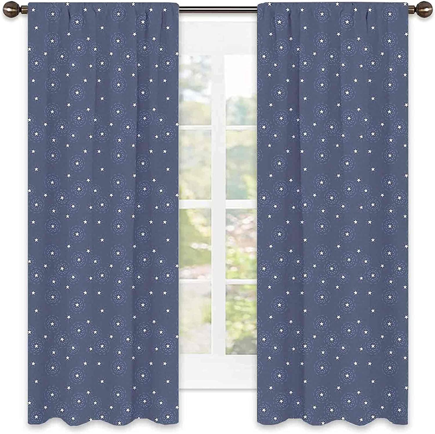 Navy Very popular Blue Heat Insulation Curtain Summer Ranking TOP4 Messy Sky L Night with