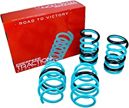 Godspeed LS-TS-TA-0015 Traction-S Performance Lowering Springs, Reduce Body Roll, Improved Handling, Set of 4