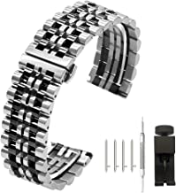 Kai Tian 6 Colors for Flexible Watch Strap Polished 7 Rows 20mm 22mm Stainless Steel Watch Band Quick Release Metal Watch ...