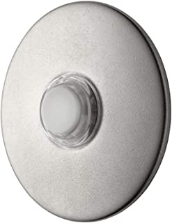 Newhouse Hardware SN5WL Lighted Doorbell Button, 1-Pack, Satin Nickel