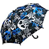 rainstoppers w104chskul boy's skull print umbrella, 34-inch (multicolored)