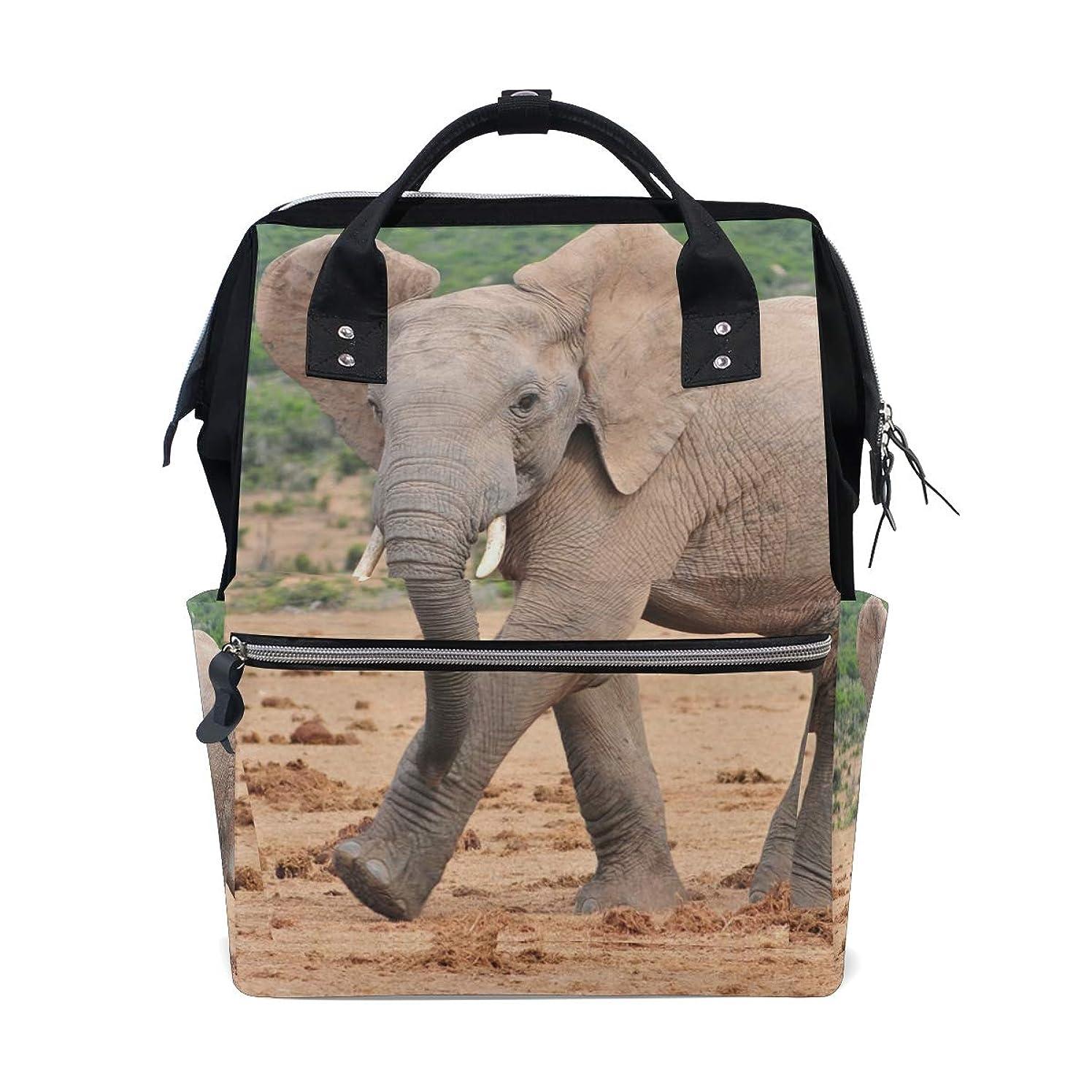 Cute African Elephant School Backpack Large Capacity Mummy Bags Laptop Handbag Casual Travel Rucksack Satchel For Women Men Adult Teen Children