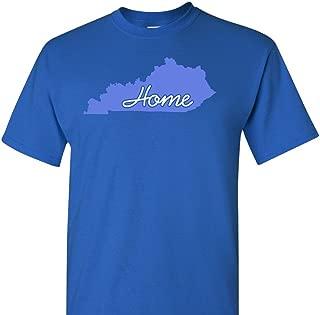 Kentucky Home on a Blue Short Sleeve T Shirt