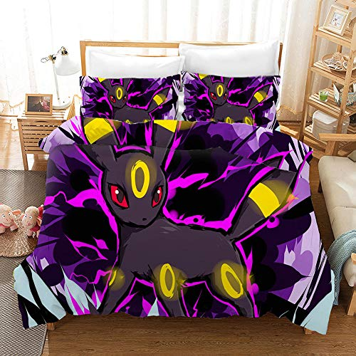 Meesovs Duvet Cover Double 200 X 200 cm Cartoon anime character 3D Bedding Sets 3 PCS with Zipper Closure, with 2 Pillow covers 50x75cm Ultra Soft Hypoallergenic Microfiber Christmas boy Duvet cover