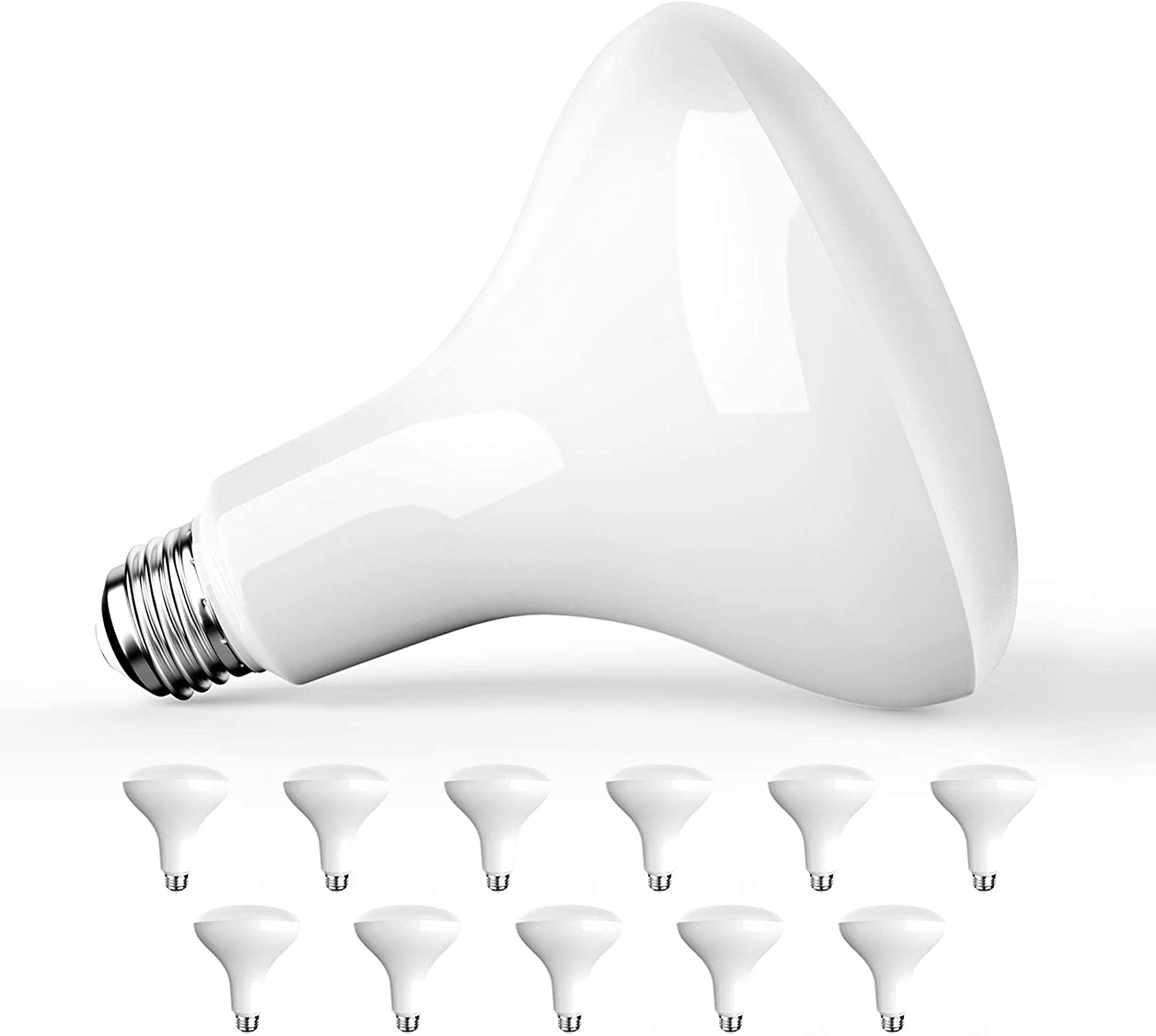 Amico 12 Pack BR40 LED Bulb E2 gift 13W=85W LM Daylight 1050 New Orleans Mall 5000K