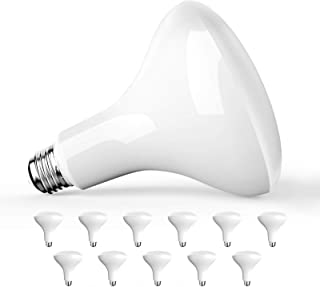 Amico 12 Pack BR40 LED Bulb 13W=85W, 5000K Daylight, 1050 LM, E26 Base, Dimmable, Indoor Flood Light for Cans - UL