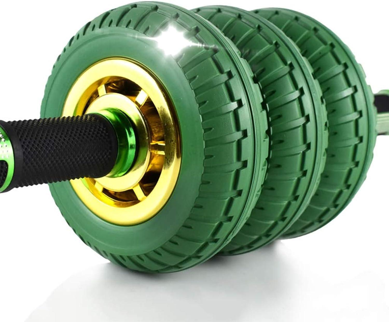Abdominal Exercise Roller Abdominal Wheel Female Roller Exercise Equipment Home Abdominal Muscle Fitness Roller Wheel Bearing 750KG Strength Training Equipment (color   Green, Size   41  15  15cm)