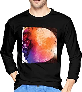 Man's Kid Cudi Man On The Moon Fashionable Music Band Long Sleeves T Shirt