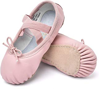 STELLE Girls Premium Leather Ballet Shoes Slippers for...