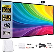 2TRIDENTS Foldable Projection Screen HD 16:9 - Projection Cine Screen for Company Home Outdoor Activities (120 inch)