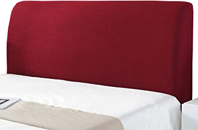 Dust Solid Color Elastic Protection Bed Head Board Cover, Single Double Bed Dust Cover, All-Inclusive Design Solid Color Elastic Headboard Protection Cover,Red-70 * 220