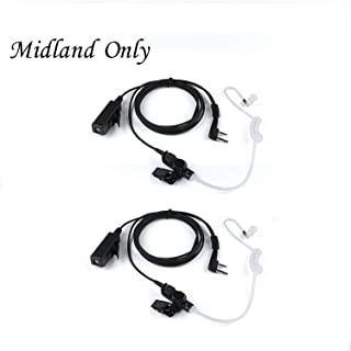 2019 New Earpiece for Midland Walkie Talkies with Mic Security Headsets for GXT1000VP4 LXT500VP3 GXT1050VP4 GXT1000XB (2Packs)