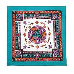 Aztec Turquoise Cotton Bandanas