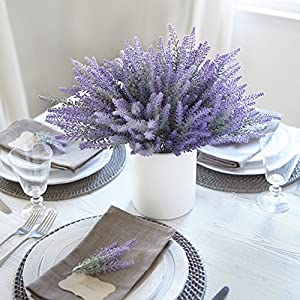 Butterfly Craze Artificial Lavender Plant 4-Piece Bundle – Nearly Natural Faux Silk Flowers for Weddings, Crafting, Kitchen Decor or Rustic Home Decor – Indoor/Outdoor Use