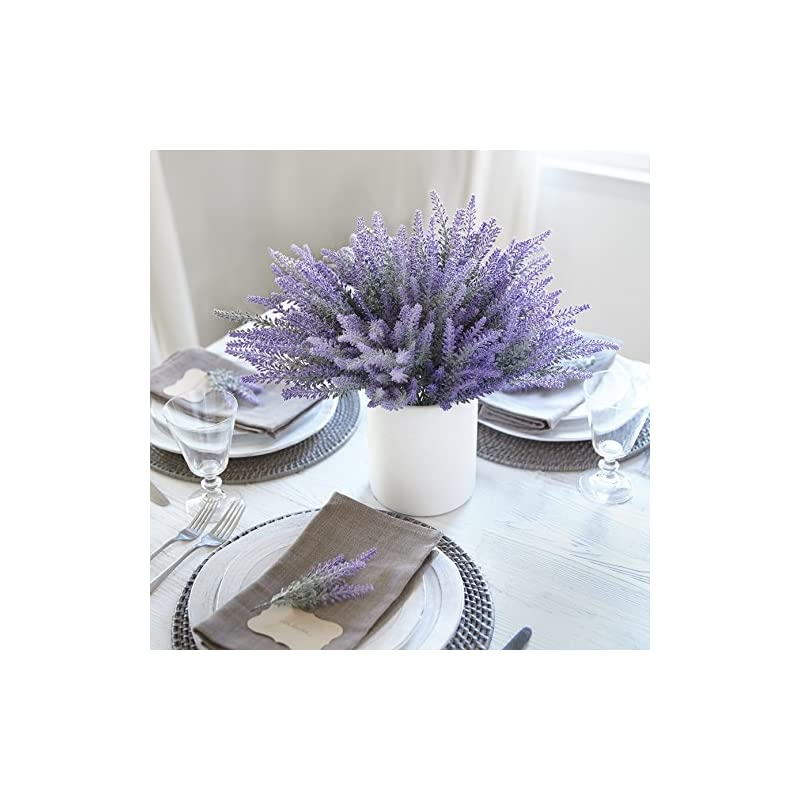 silk flower arrangements butterfly craze artificial lavender plant 4-piece bundle – nearly natural faux silk flowers for weddings, crafting, kitchen decor or rustic home decor – indoor/outdoor use