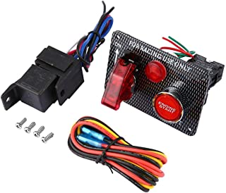 Funnyrunstore Useful Car 12V Switch Ignition Engine Panel Start Push Racing Car Button Essential Accessories