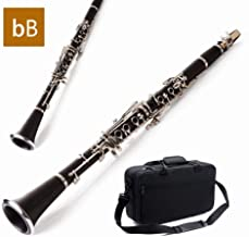 ♭B Instrumento For Clarinete Afinado Instrumento Negro Plateado En Níquel Instrumento Profesional For Tocar Instrumento De Viento Altavoz De Práctica Inicial 13.78 Pulgadas