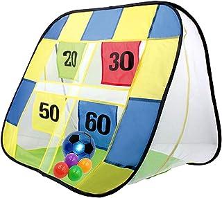 (APOSITV)ストラックアウト サッカー ゴール ボール おもちゃ 室内 子供 ネット 折りたたみ ポップアップ