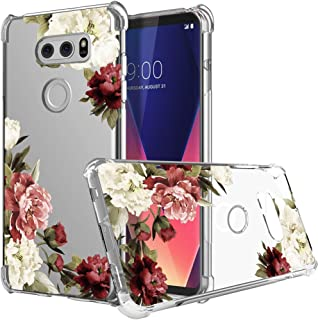 Ueokeird LG V30 Case, LG V30 Plus Case with Flowers, Slim Shockproof Clear Floral Pattern Soft Flexible TPU Back Phone Pro...