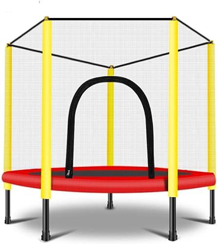 HANSHAN Gartentrampoline Trampolin, Kindertrampolin Mit Schutznetz Größe Outdoor-Hinterhof-Trampolin 2 Größe (Farbe   A, Größe   47×47inch)