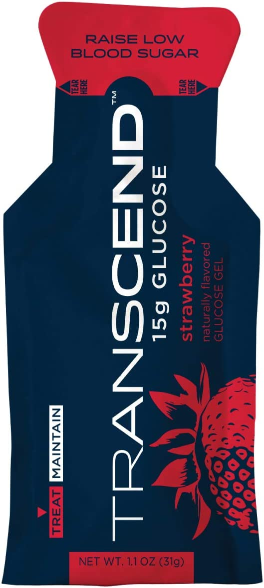 Portland Mall Transcend Glucose Gel Packs - 15 Year-end annual account Flavor Pack Strawberry 1.1oz