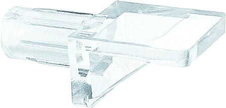 Prime-Line Produtos U 10144 pinos de suporte para prateleira, 0,6 cm de diâmetro, plástico, transparente (pacote com 8),