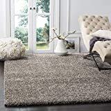 SAFAVIEH Milan Shag Collection SG180 Solid Non-Shedding Living Room Bedroom Dining Room Entryway Plush 2-inch Thick Area Rug, 8'6' x 12', Grey