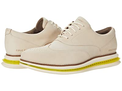 Cole Haan Original Grand Cloudfeel Energy One Shortwing Oxford (Cement/Ivory/Safety Yellow) Men