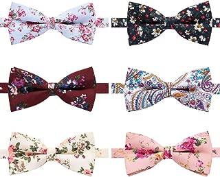 boys floral bow tie