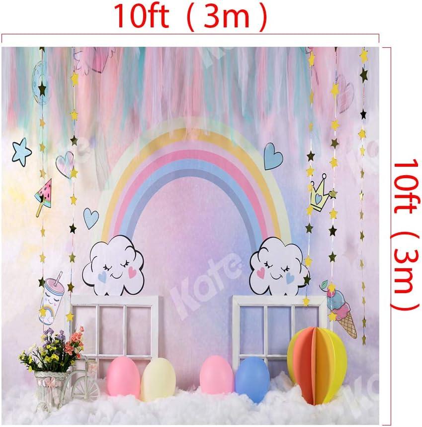 Kate 8x8ft Baby Shower Photography Backdrop Rainbow Portrait Photo Backdrop for Kids Photo Studio Props