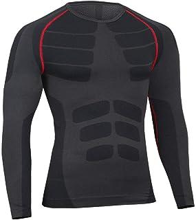 comprar comparacion Bwiv Camiseta Hombre Deportiva Compresión Camiseta Interior Hombre Manga Larga Fitness Gimnasio Aire Libre para Entrenamie...